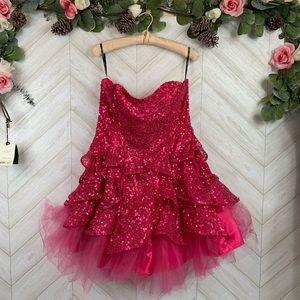 New Betsey Johnson Evening Formal Sequin Dress 12